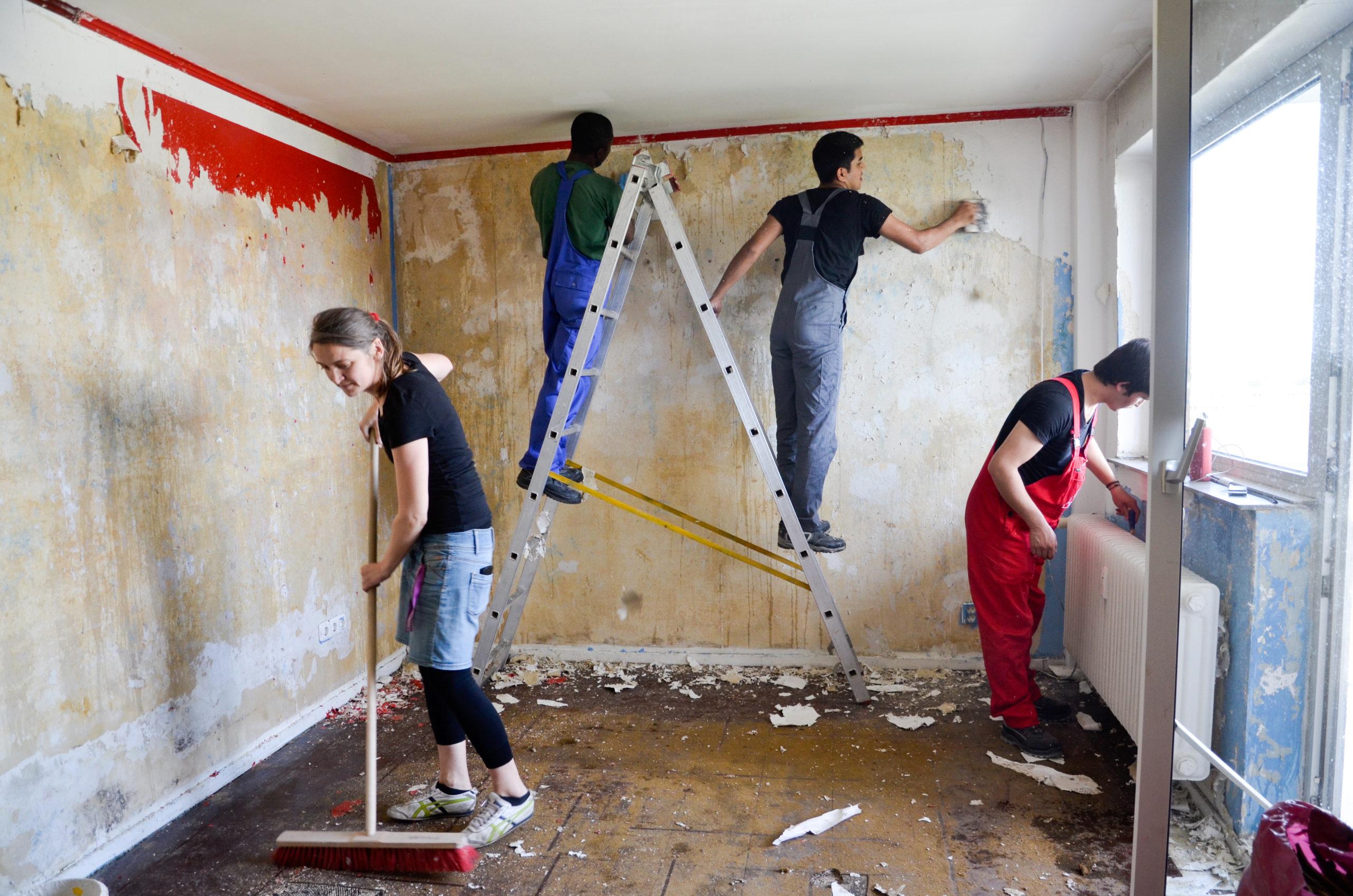 Renovierungsarbeiten Hochhaus © Christoph Stark