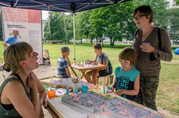 Wünsche und Ideen sammeln fürs neue Stadtteilhaus © Plattenwechsel