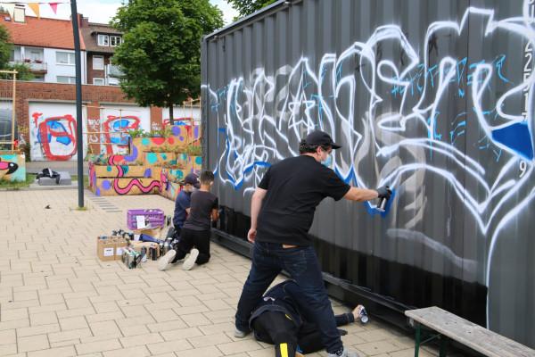 Graffiti-Workshop für das Musical