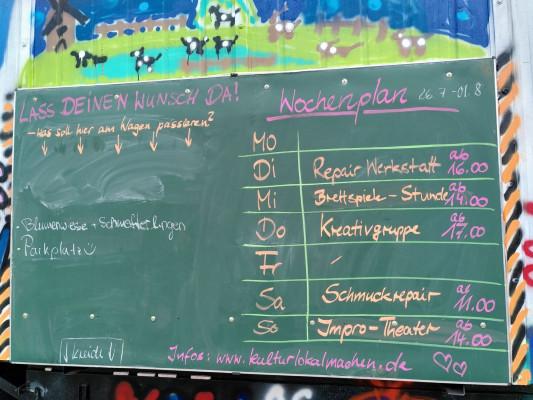 Ankündigungstafel und Ideensammlung © kultur.lokal.machen